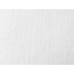 Voilage étamine aspect lin Blanc