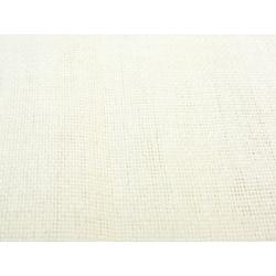 Voilage étamine aspect lin Blanc Cassé