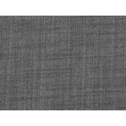 Tissu occultant gris foncé non feu M1 aspect lin 300cm