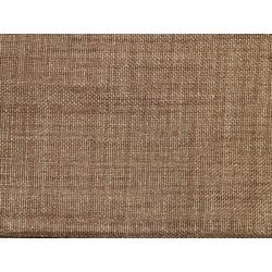 Tissu occultant marron non feu M1 aspect lin 300cm