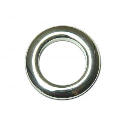 Oeillets à clipser pour rideaux coloris Argent Brillant - diamètre 55 mm - lot de 8