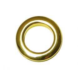 Oeillets à clipser pour rideaux coloris Or Brillant - diamètre 55 mm - lot de 8