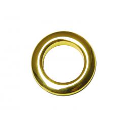 Oeillets à clipser pour rideaux coloris Or Brillant - diamètre 35 mm - lot de 8