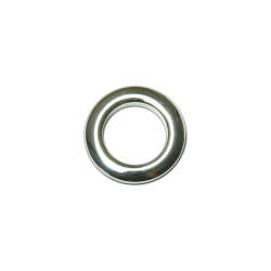 Oeillets à clipser pour rideaux coloris Argent Brillant - diamètre 28 mm - lot de 8
