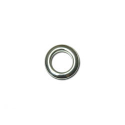 Oeillets à clipser pour rideaux coloris Argent Brillant - diamètre 20 mm - lot de 8
