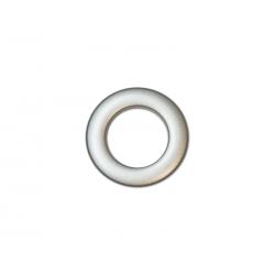 Oeillets à clipser pour rideaux coloris Argent Mat - diamètre 28 mm - lot de 8