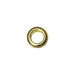 Oeillets à clipser pour rideaux coloris Or Brillant - diamètre 20mm - lot de 8
