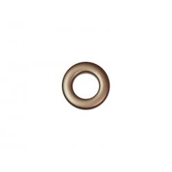 Oeillets à clipser pour rideaux coloris Chocolat - diamètre 20 mm - lot de 8