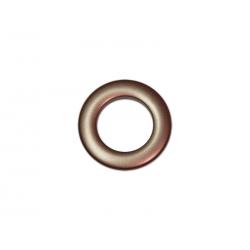 Oeillets à clipser pour rideaux coloris Chocolat - diamètre 28 mm - lot de 8