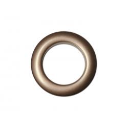Oeillets à clipser pour rideaux coloris Chocolat - diamètre 35 mm - lot de 8