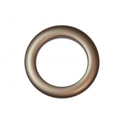 Oeillets à clipser pour rideaux coloris Chocolat - diamètre 55 mm - lot de 8