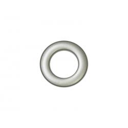 Oeillets à clipser pour rideaux coloris Platine Mat - diamètre 28 mm - lot de 8