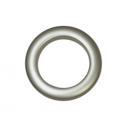 Oeillets à clipser pour rideaux coloris Platine Mat - diamètre 55 mm - lot de 8