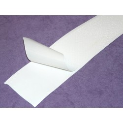 Ruban velcro adhésif 50mm blanc