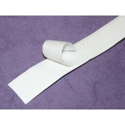 Ruban velcro adhésif 20mm blanc