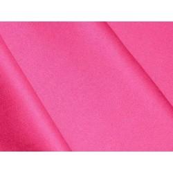 Satin de coton Rose Fushia