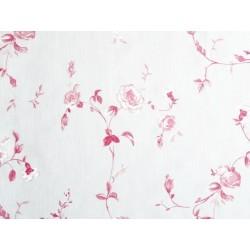 Voilage imprimé fleur de rose - Rouge