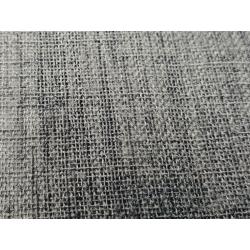 Voilage étamine aspect lin Anthracite