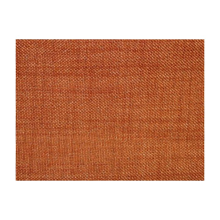 Tissu occultant orange foncé non feu M1 aspect lin 300cm
