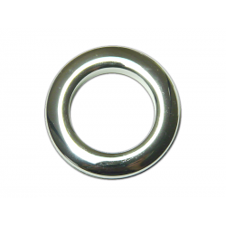 Chrome Plastic Curtain Eyelet Rings Clips 55 mm – pack of 8