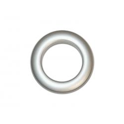 Oeillets à clipser pour rideaux coloris Argent Mat - diamètre 35 mm - lot de 8