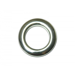 Chrome Plastic Curtain Eyelet Rings Clips 35 mm – pack of 8