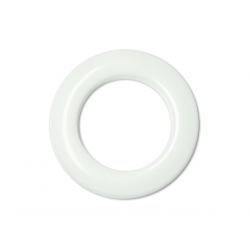 White Plastic Curtain Eyelet Rings Clips 55 mm – pack of 8