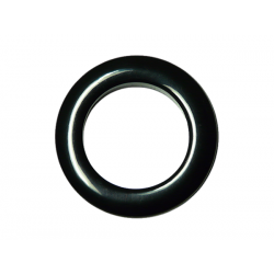 Black Plastic Curtain Eyelet Rings Clips 55 mm – pack of 8
