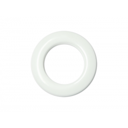 White Plastic Curtain Eyelet Rings Clips 35 mm – pack of 8
