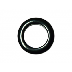 Black Plastic Curtain Eyelet Rings Clips 35 mm – pack of 8