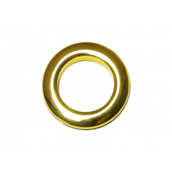 Shiny Gold Plastic Curtain Eyelet Rings Clips 35 mm – pack of 8