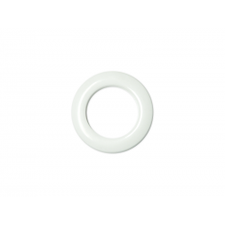 White Plastic Curtain Eyelet Rings Clips 28 mm – pack of 8