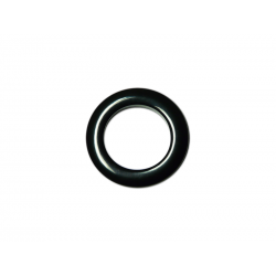 Black Plastic Curtain Eyelet Rings Clips 28 mm – pack of 8