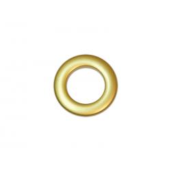 Oeillets à clipser pour rideaux coloris Or Mat - diamètre 28 mm - lot de 8