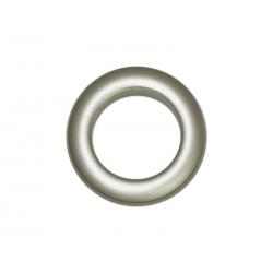 Oeillets à clipser pour rideaux coloris Platine Mat - diamètre 35 mm - lot de 8
