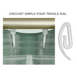 Pack 10 crochets simples pour tringle rail