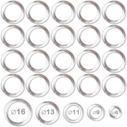 Anneaux plastiques transparents pour confection et bricolage diamètre 6mm - lot de 20