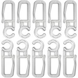 Agrafes crochets transparents pour rideaux diamètre 5mm - lot de 20