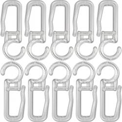 Agrafes crochets transparents pour rideaux diamètre 10mm - lot de 20