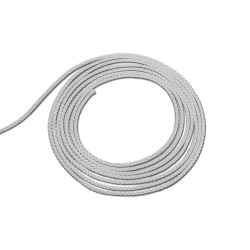 Cordon polyester coloris blanc diamètre 1,5mm - vendu au ML