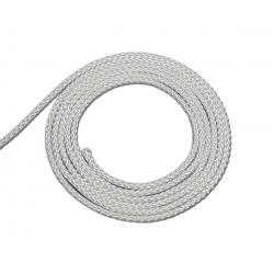 Cordon polyester coloris blanc diamètre 3mm - vendu au ML