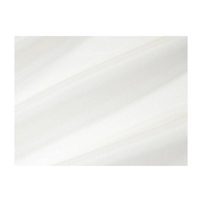 Tissu voile brillant uni Blanc