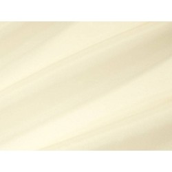 Tissu voile brillant uni Crème