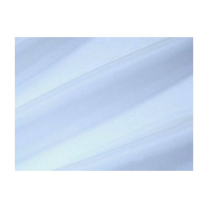 Tissu voile brillant uni Bleu