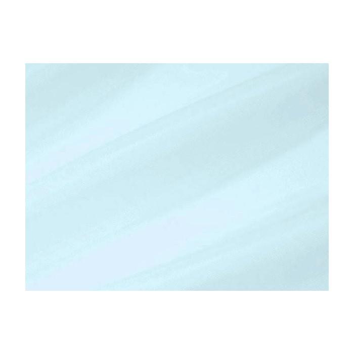 Tissu voile brillant uni Bleu Ciel
